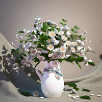 Bouquet of jasmine in vase