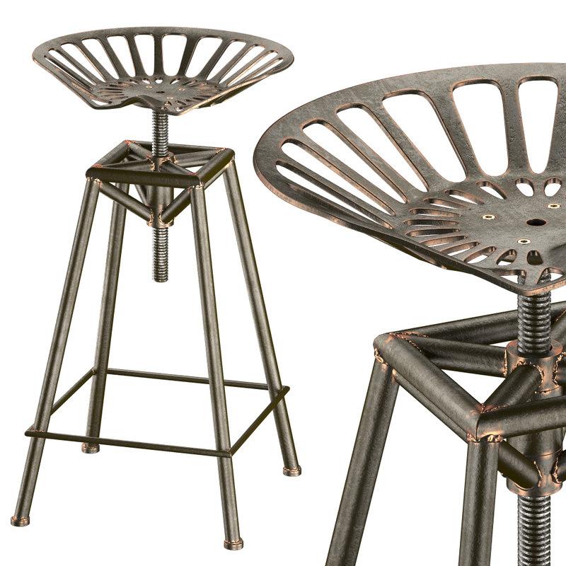 charlie industrial metal design 3d max