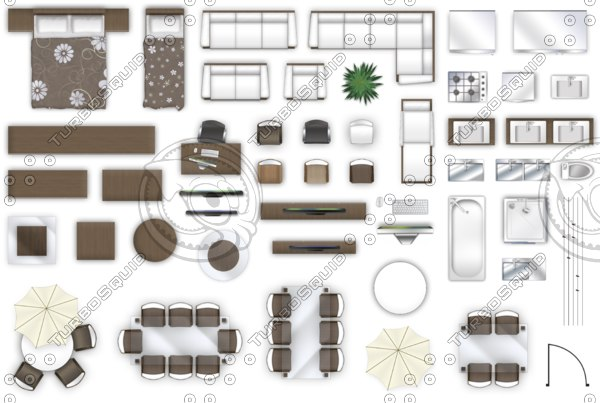 Texture psd 2d floor plan for Bathroom 2d planner