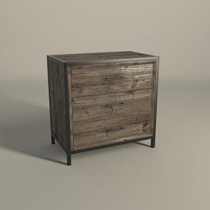 bedroom nightstand atlanta 3d model