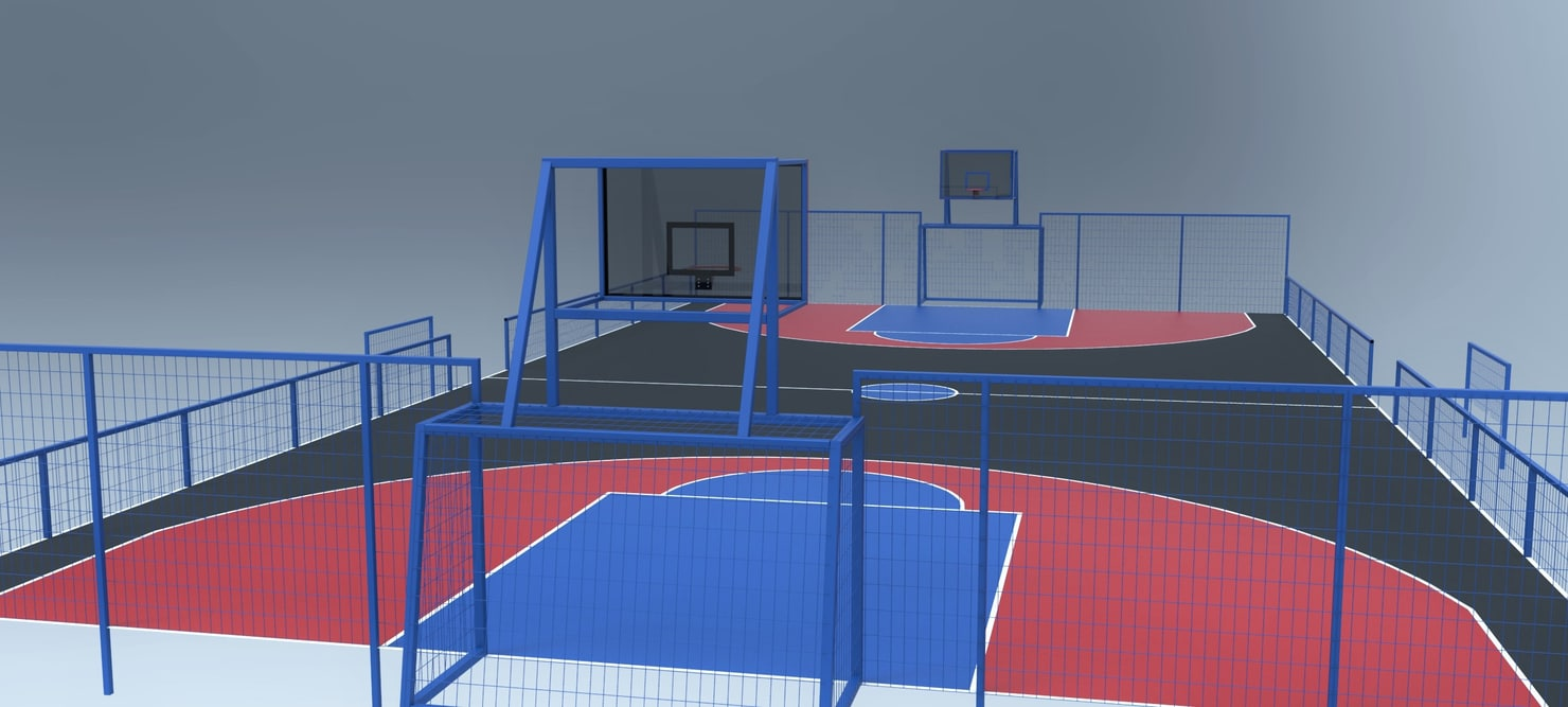 ige outdoor basketball soccer playground