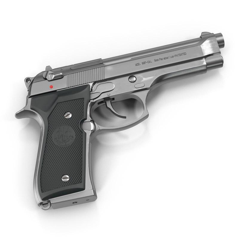 3d semi automatic pistol beretta 92f model