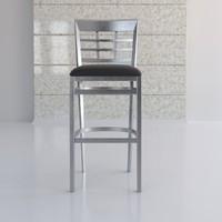 3d window plane metal bar chair
