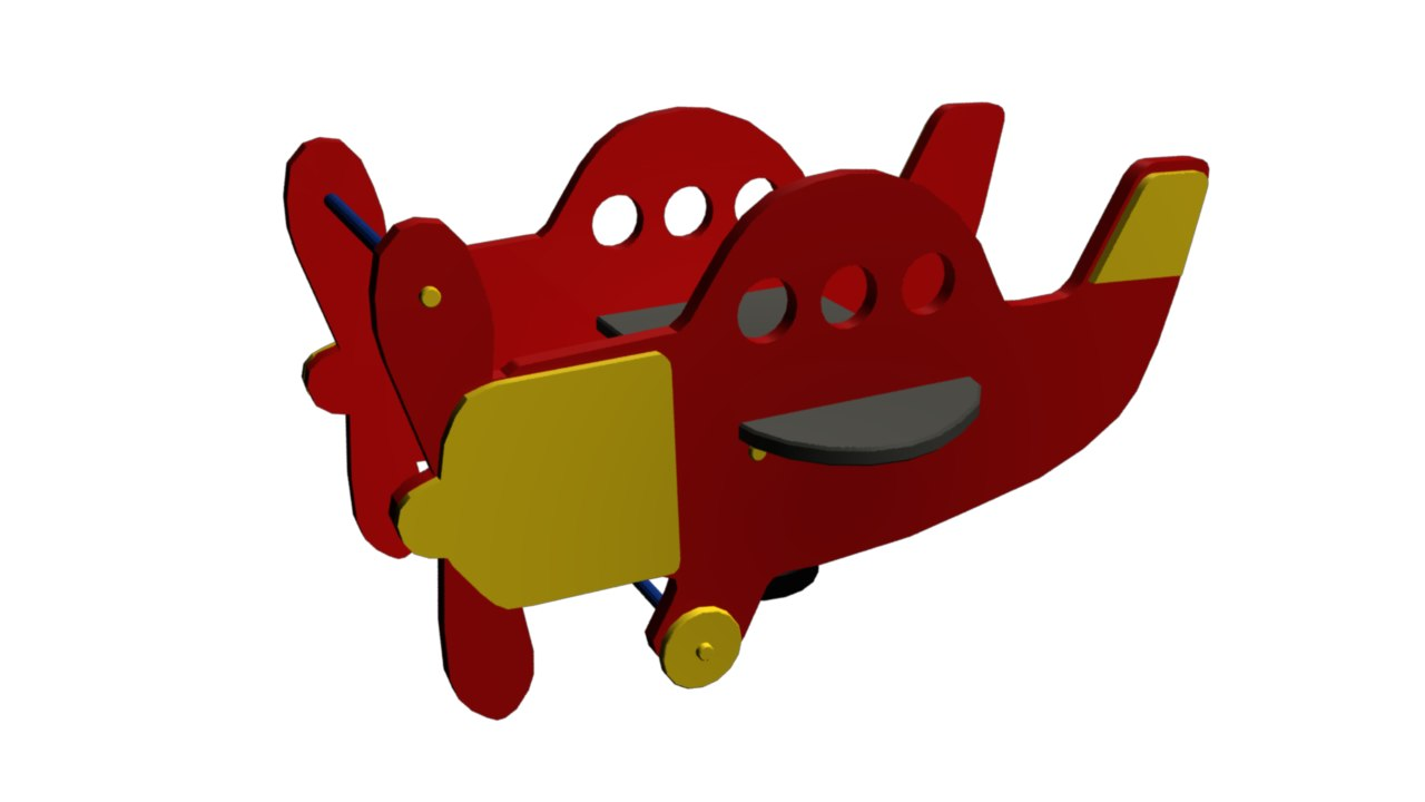 3d airplane spring rider model