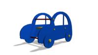3d car spring rider model