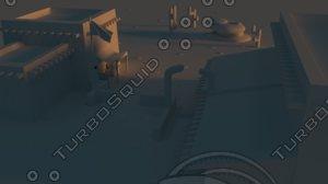 desert village 3d model