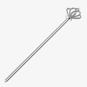 3d model princess scepter