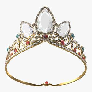 3d model rapunzel s tiara