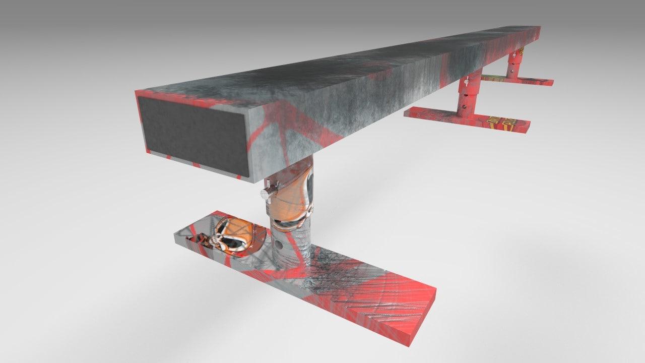 x skate rail