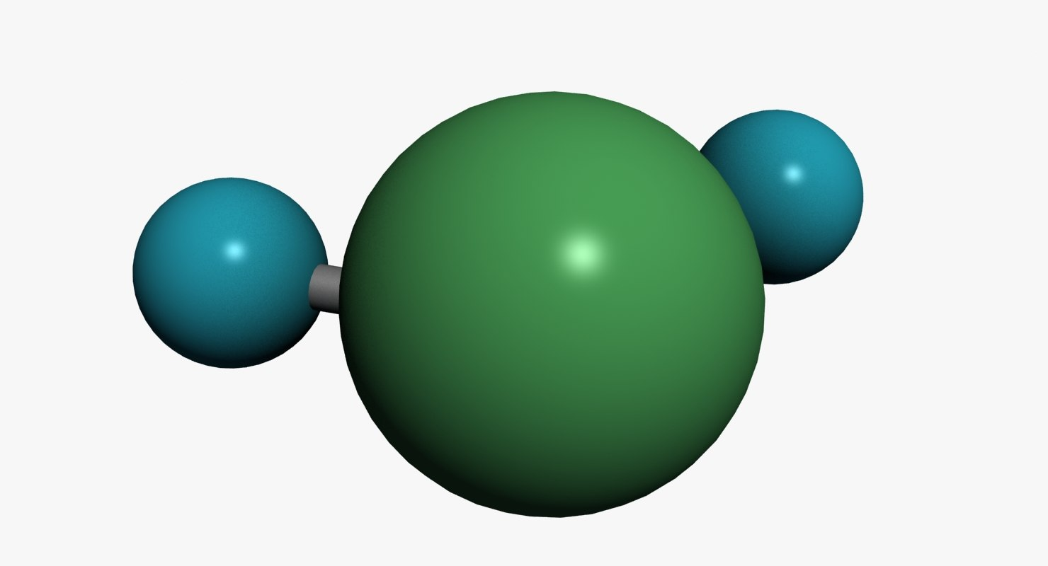 3d model water molecule