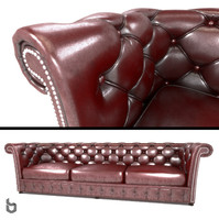 chesterfield 3-seater leather sofa max