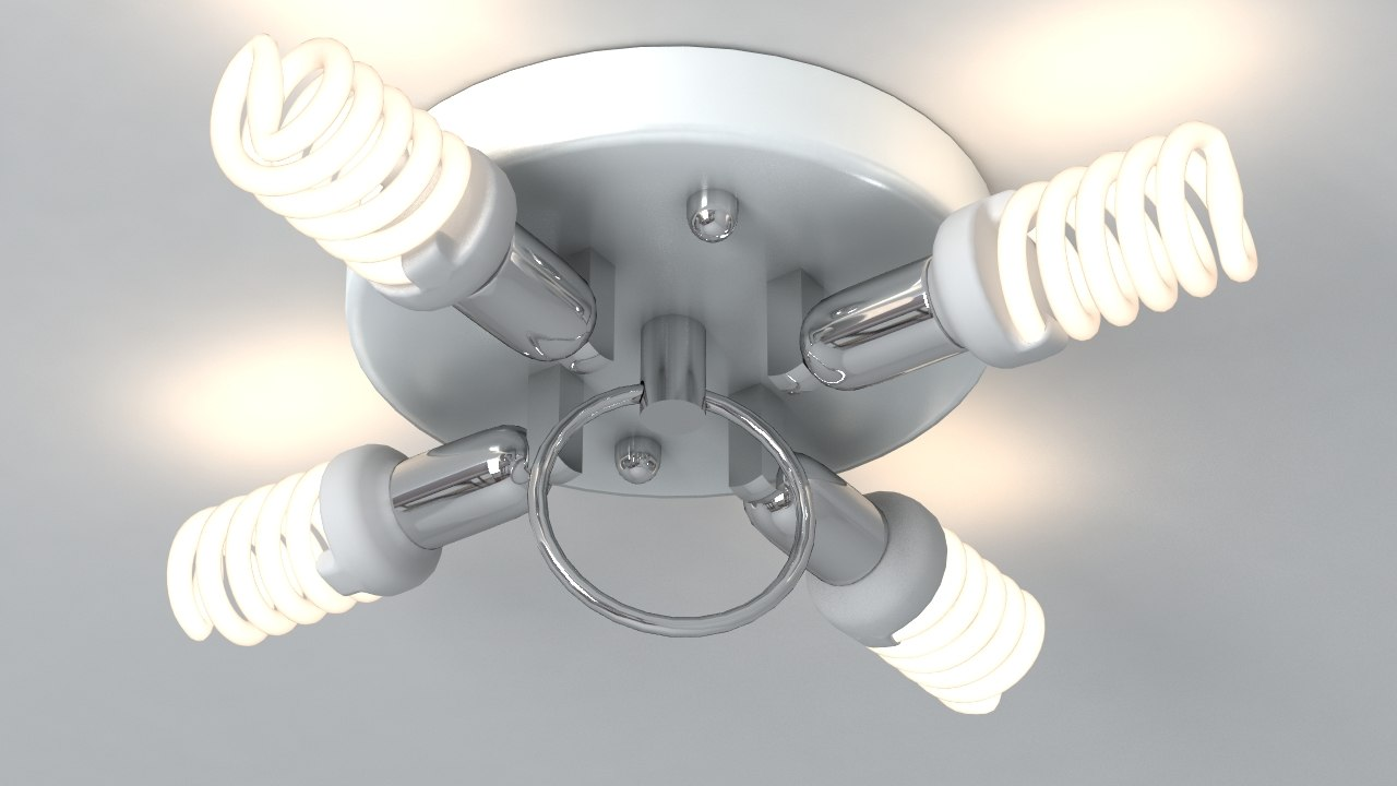 3d lamp meshsmooth light model