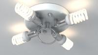 3d lamp meshsmooth light model