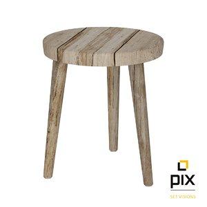 realistic rustic legged wooden max