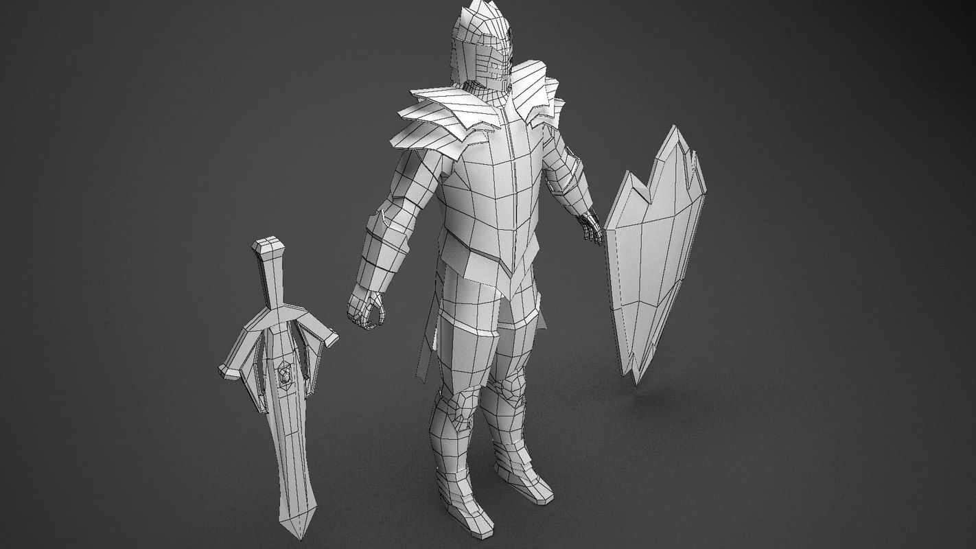 3d model of dragon knight
