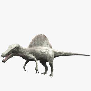 3d spinosaurus rigged model