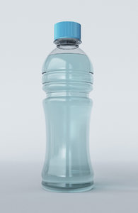 free water bottle 3d model