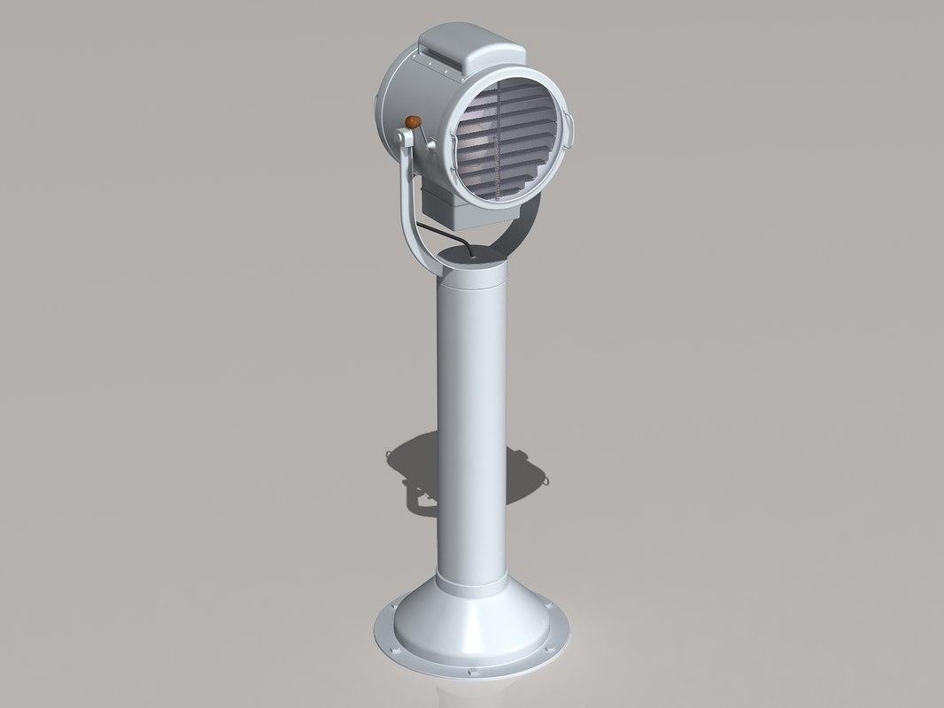 navy signal light lamp 3d model
