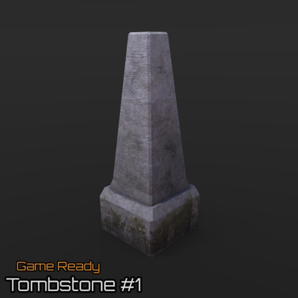3d ready tombstone model