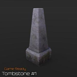 3d ready tombstone model