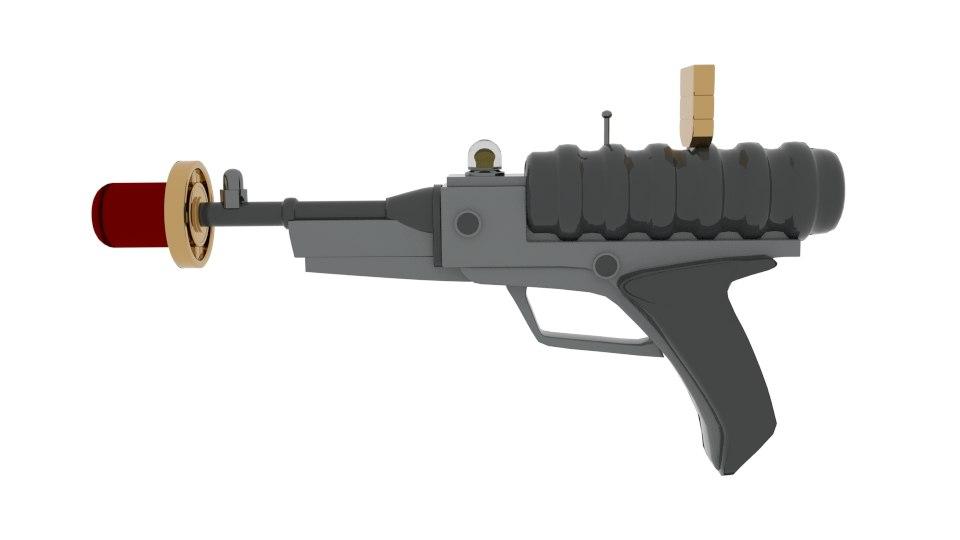 3d model lis laser gun pistol