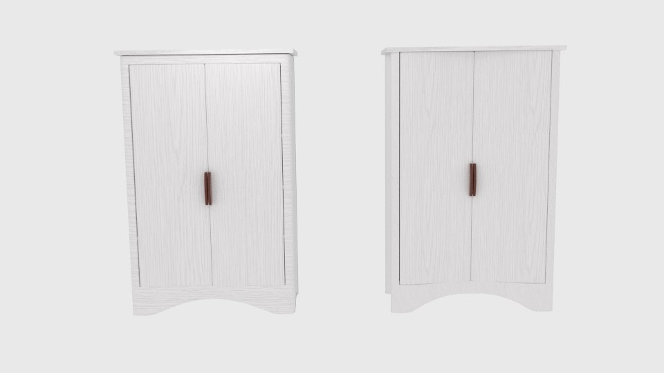 curved wardrobe 3d 3ds