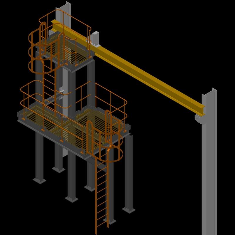 3d crane platform model