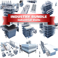 3d model industrial buildings processing units