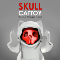 skull cat toy 3ds