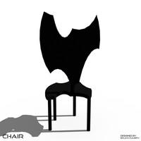 3d model bat chair