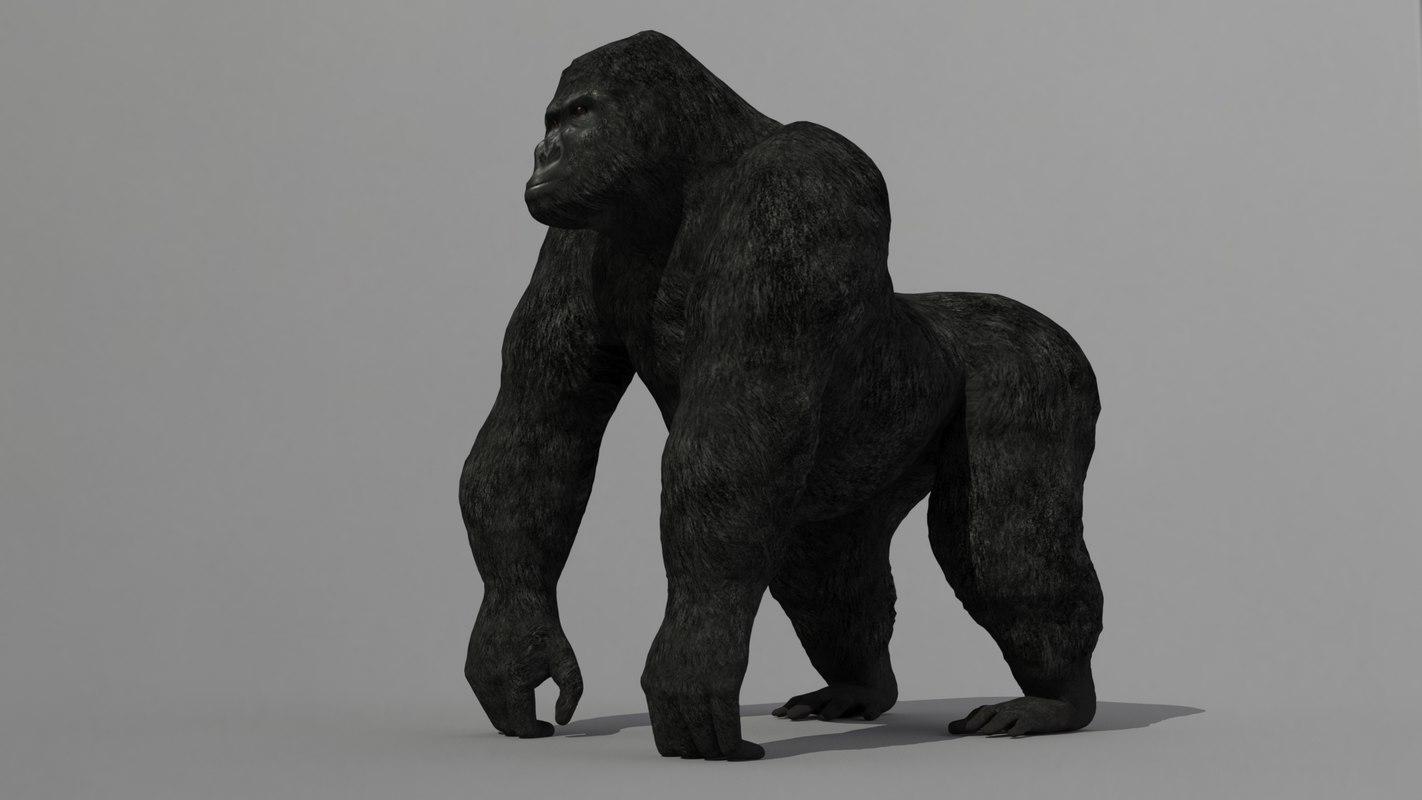 3d gorilla medium