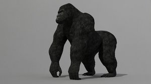 3d gorilla medium