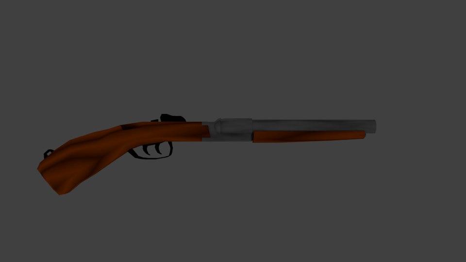 shotgun sawed 3d blend