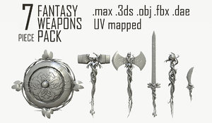 3d max fantasy weapon pack