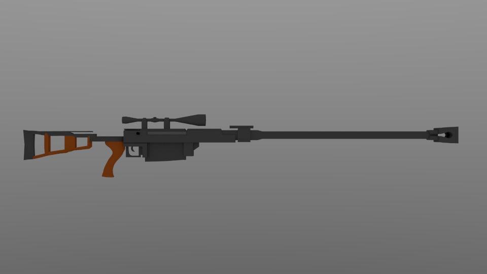 sniper rifle blend