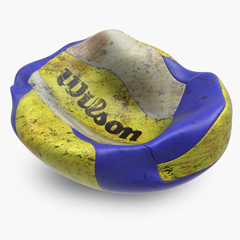deflated volleyball balloon 3d model