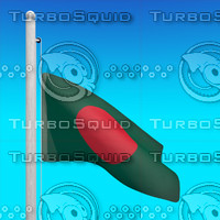 flag bangladesh - loop 3d max
