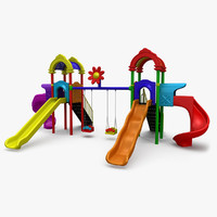 playground set swings 3d max