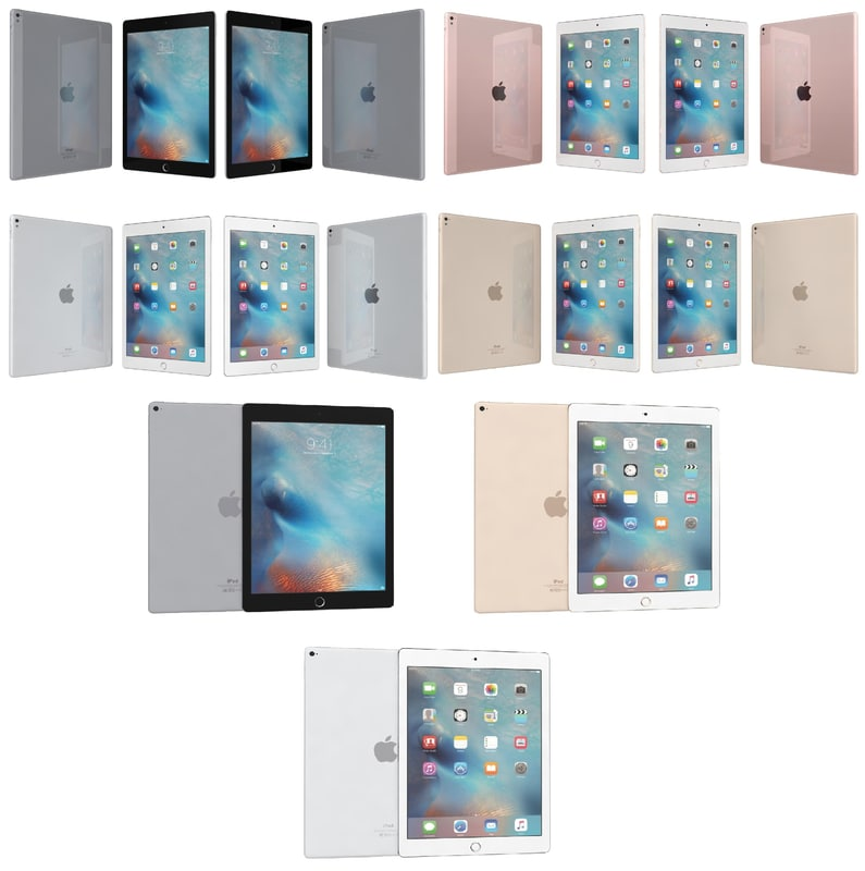 apple ipad pro 9 3d model