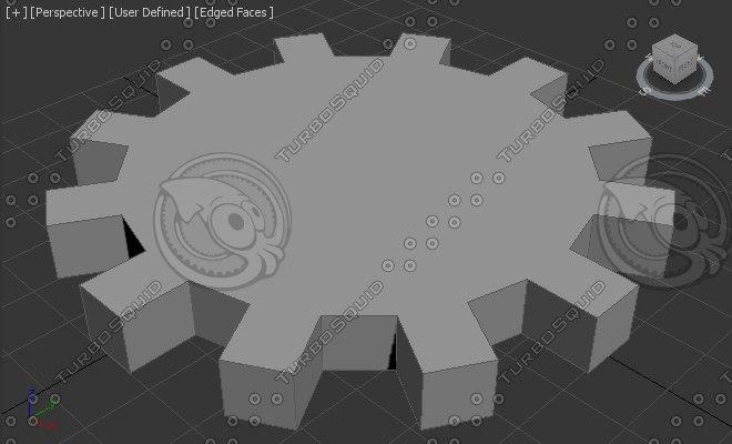 3d model of engrenagem gear