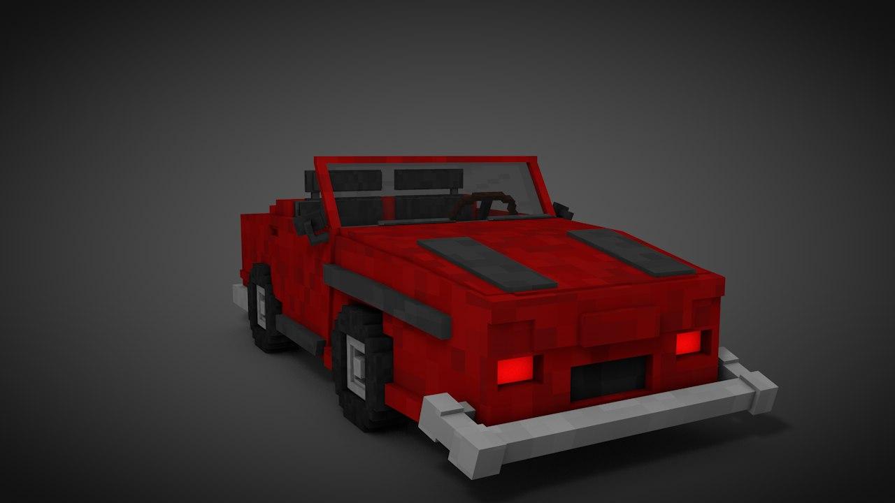 c4d minecraft car