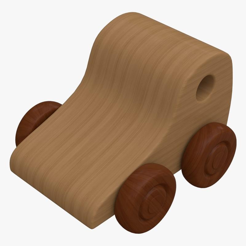 3d wooden toy car