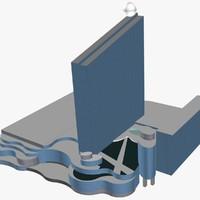 free hotel boardwalk 3d model