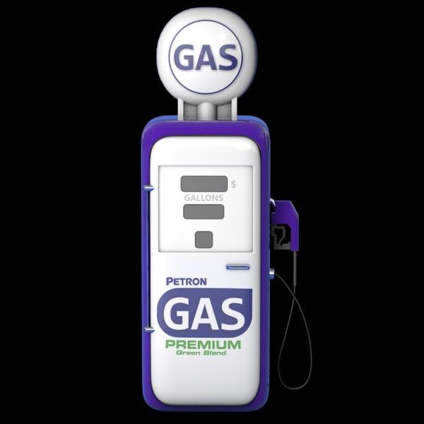 gasoline pump gas 3d c4d