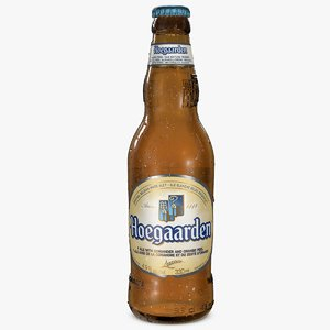 hoegaarden beer bottle 3d 3ds