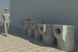 Revit Pot Gully RFA 3D Family