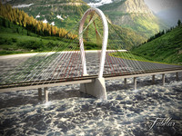 suspension bridge 01 3d model