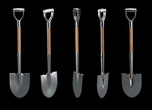 3d model shovel