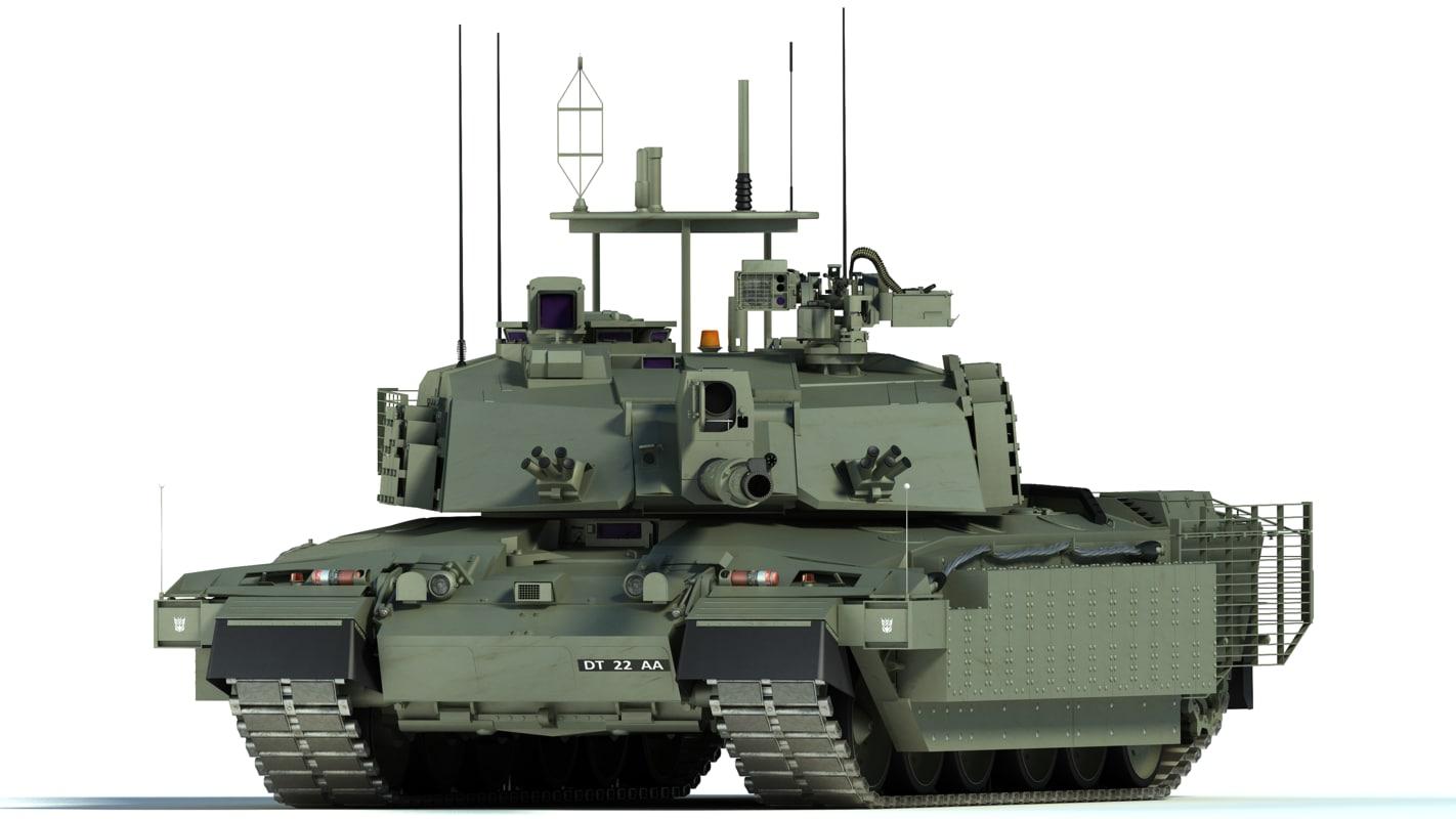 Challenger 2 mbt tank max Best 3d models
