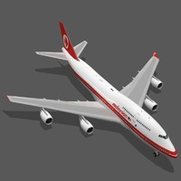 boeing 747-400 malaysia airlines 3d model